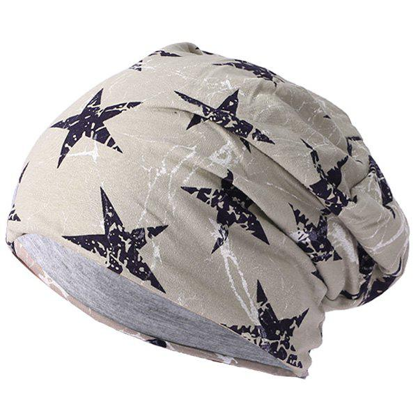 Hot Men's Lightning Five-pointed Star Double Thin Warm Cap