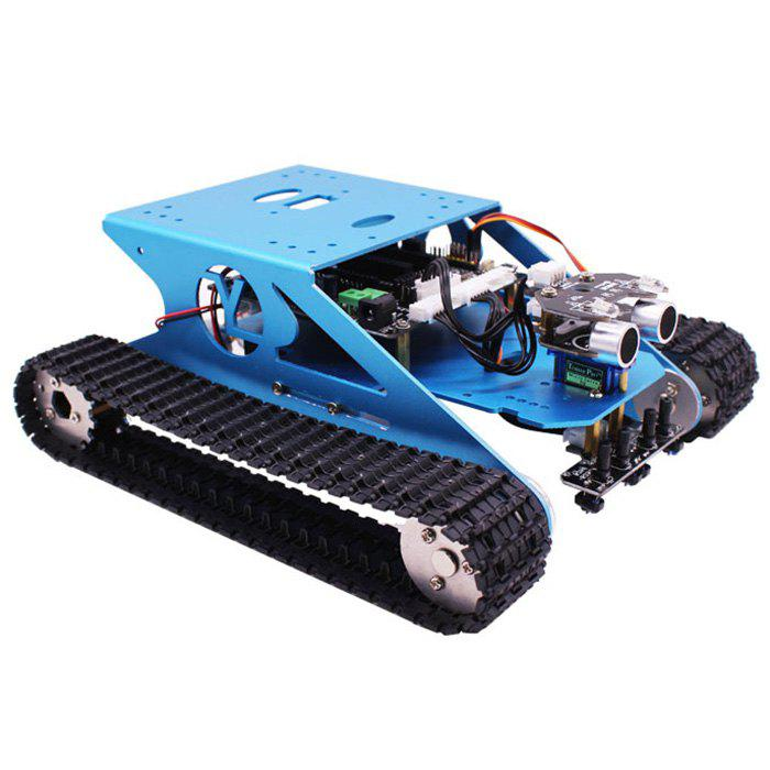 Best Yahboom Track Robot Kit Stem Education Programmable Smart Tank Mobile Platform Chassis Robot Kit For Arduino Electronic Project Learning With C Language & Graphical Programming Super Climbing
