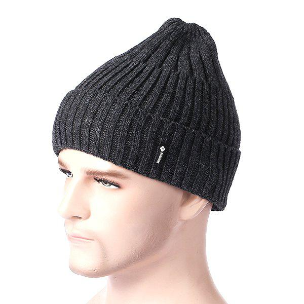 Outfit Wool Autumn Winter Warm Plus Velvet Pullover Knit Hat