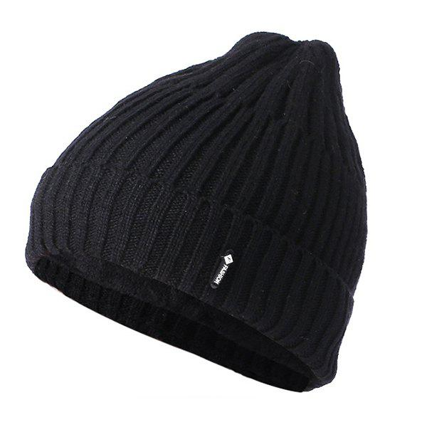 Shop Wool Autumn Winter Warm Plus Velvet Pullover Knit Hat