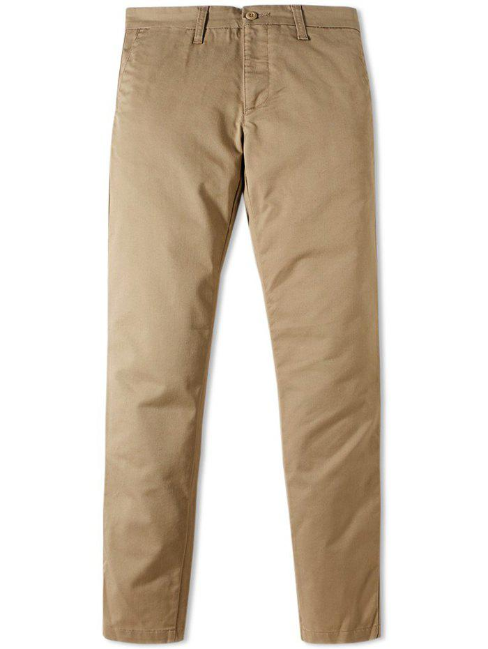 Fashion Men's Business Casual Simple Pants with Small Feet