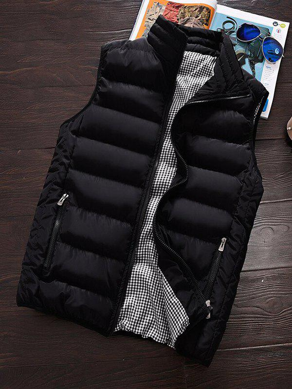 Cheap Men's Winter Warm Cotton Clothes Vest Korean Big Size Vest Thickening