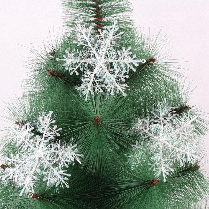 Outfit Plastic Brushed Christmas Tree Decoration Pendant Snowflake 3pcs