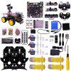 Yahboom Ultimate Starter Kit For Raspberry Pi 3 B+ HD Camera Programmable STEM Education Smart Robot Car Kit With 4WD Electronics Education DIY Kit For Teens (Raspberry Pi Include) -
