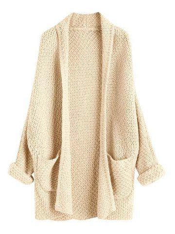 cd8bc2318a Loose Large Size Solid Color Knit Cardigan