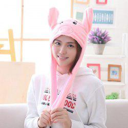 Year Gift Spring Festival Gift Pig Year Mascot Ear Moving Pig Hat -