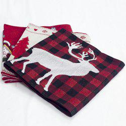 Christmas Decorations Cotton Embroidered Table Flags Creative European Coffee Tables Desktop -
