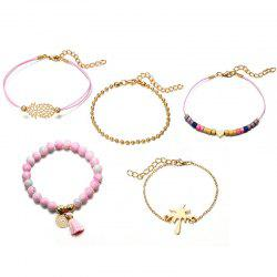 Карта Love Coconut Tree Geometry Round Bracelet Set -