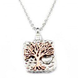 Retro Double-color Life Tree Perfume Bottle Pendant Necklace -