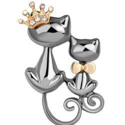 Cartoon Animal Love Double Cat Boutonniere -