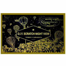 7-T0516 Creative DIY Night Scenery Scraping Painting -
