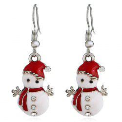 Christmas Snowman Earrings Personalized Fashion Cute Doll Gift -