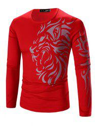 Printing Men's Long-sleeved Quick-drying Casual T-shirt -