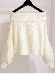 Women Leisure Sweater Comfortable Off Shoulder Design -
