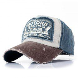 Patch Color Matching Fashion Baseball Cap -