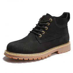 Men Lace-up Boots Leisure Comfortable Wearable -