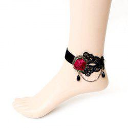 Black Lace Anklet -