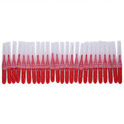 2.5MM Red Blue Oral Cleaning Interdental Brush 50pcs -