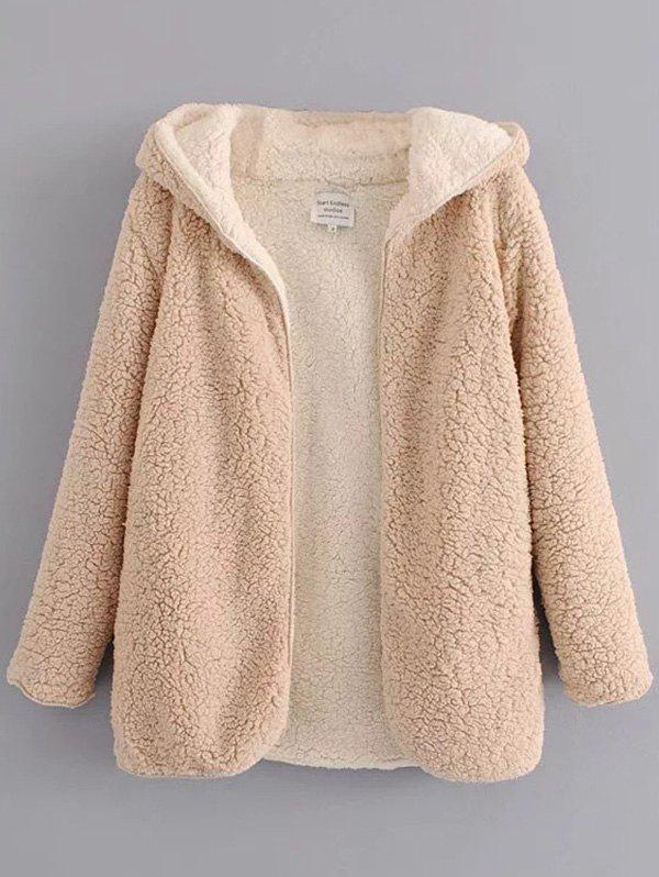 Chic Female Autumn Winter Double-faced Lazy Warm Fur Coat
