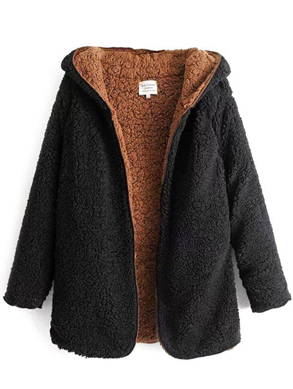 Trendy Female Autumn Winter Double-faced Lazy Warm Fur Coat