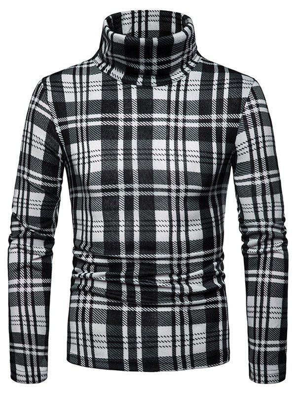 Fancy Men's Shirt Square High Collar Bottoming