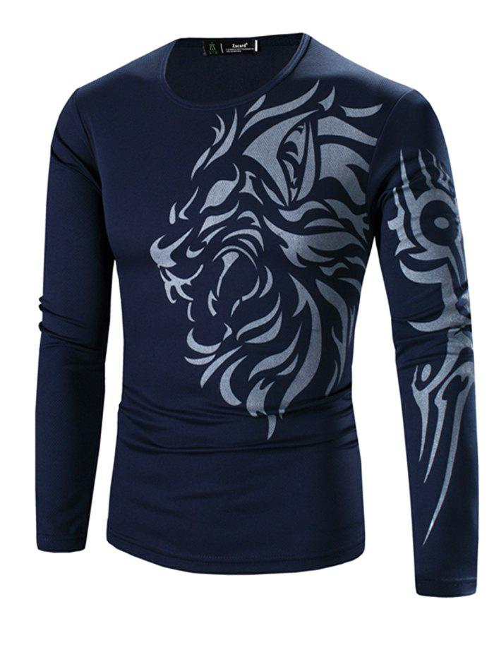 Outfits Printing Men's Long-sleeved Quick-drying Casual T-shirt