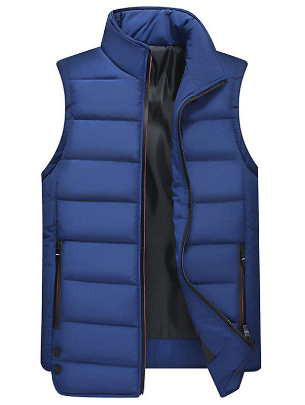 Shops Men's Casual Multicolor Trend Stand Collar Sleeveless Vest