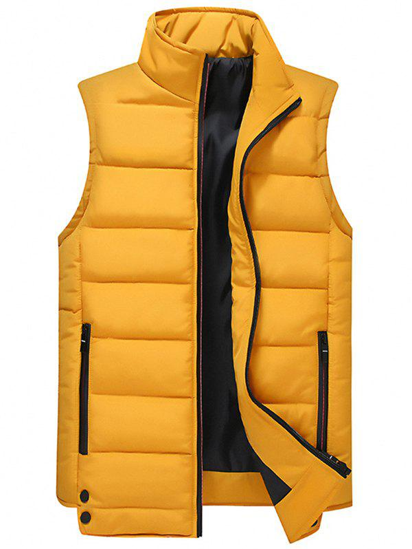 Fancy Men's Casual Multicolor Trend Stand Collar Sleeveless Vest