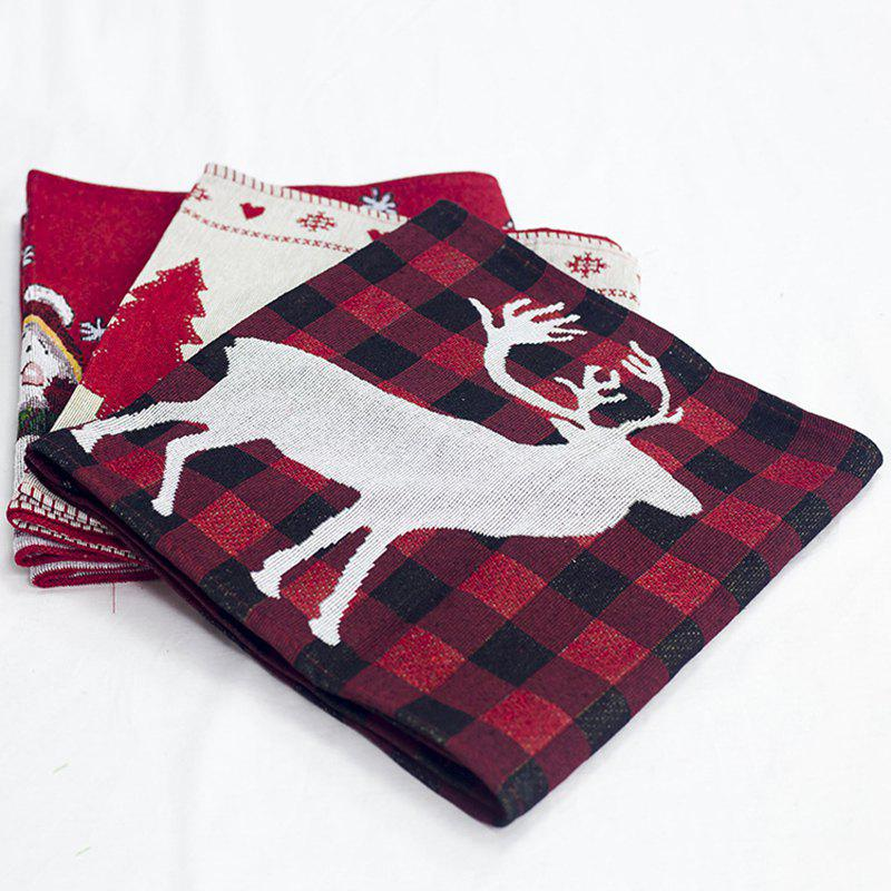Online Christmas Decorations Cotton Embroidered Table Flags Creative European Coffee Tables Desktop