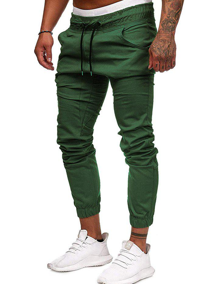 Buy Men Large Size Solid Color Casual Beam Pants Fashion Loose