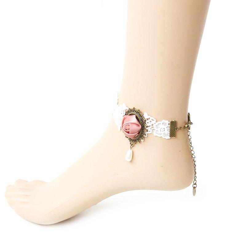 Outfit Lace Flower Pearl Anklet
