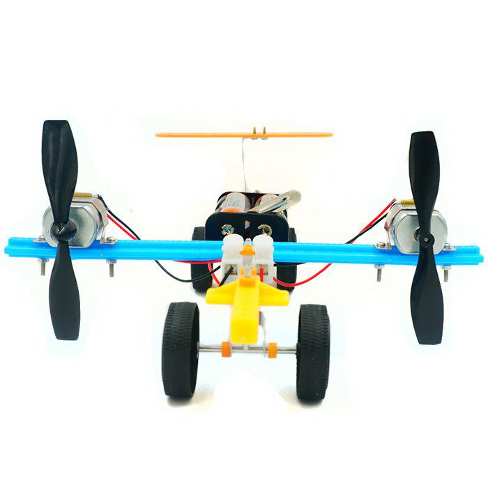 DIY Twin Propeller Taxiing Aircraft Scientific Toy Set for Kids