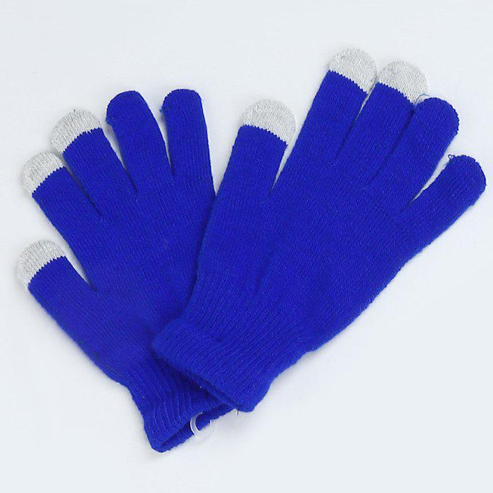 Chic Warmth Thickening Solid Color Touch Screen Gloves