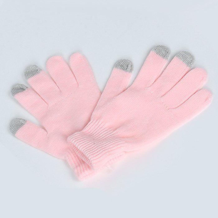 Shops Warmth Thickening Solid Color Touch Screen Gloves