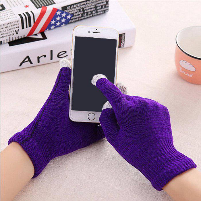 Cheap Warmth Thickening Solid Color Touch Screen Gloves