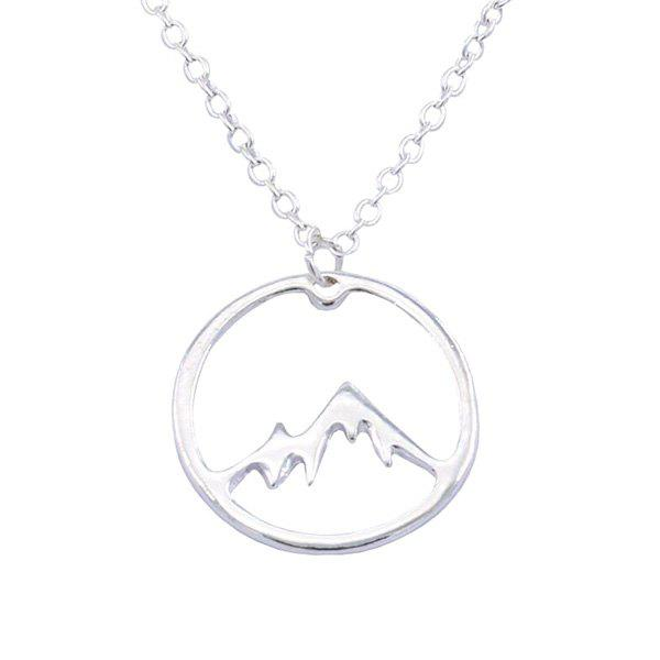 Fashion Creative Fashion Round Hollow Snow Mountain Necklace