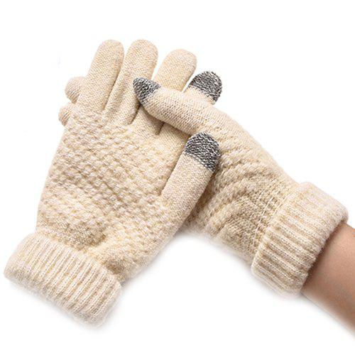 Latest Winter Plus Velvet Thickened Anti-needle Jacquard Touch Screen Gloves