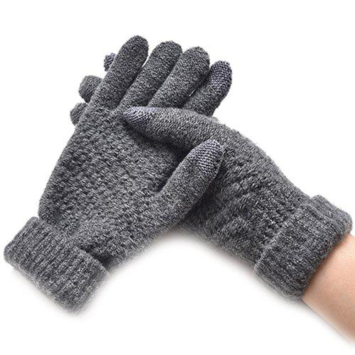 Unique Winter Plus Velvet Thickened Anti-needle Jacquard Touch Screen Gloves
