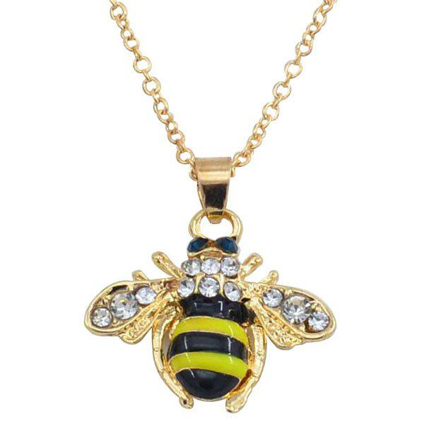 Discount Fresh Little Bee Clavicle Sweater Chain