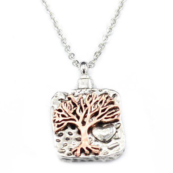 Unique Retro Double-color Life Tree Perfume Bottle Pendant Necklace
