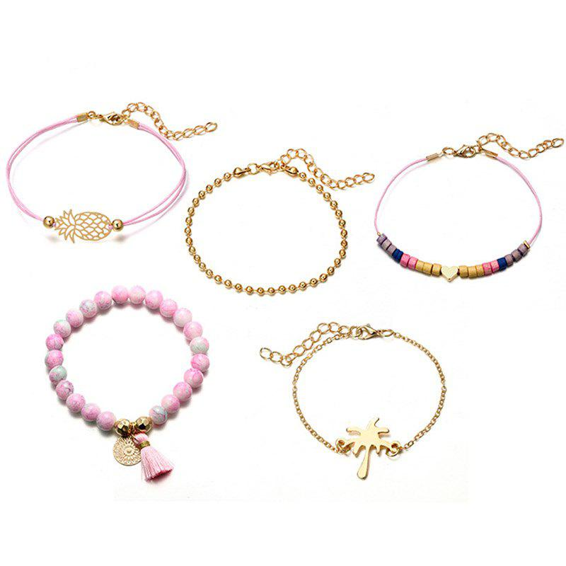 Карта Love Coconut Tree Geometry Round Bracelet Set