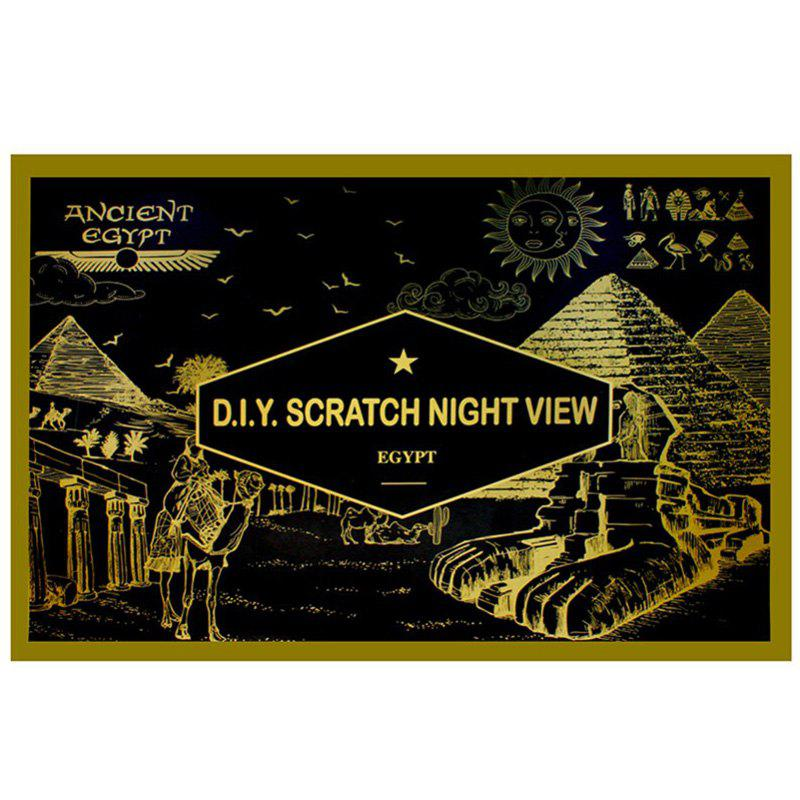 Affordable 7-T0517 Creative DIY Night Scenery Painting Egypt Pyramid