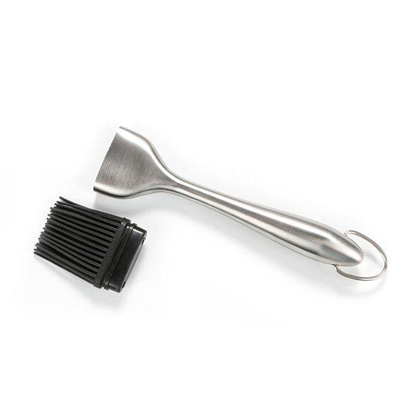 Discount Stainless Steel Hollow Handle Silicone Hair Brush 2pcs