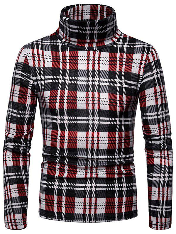 Outfits Men's Shirt Square High Collar Bottoming