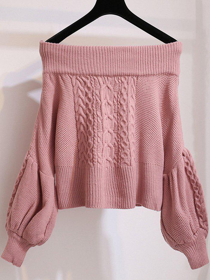 Fancy Women Leisure Sweater Comfortable Off Shoulder Design