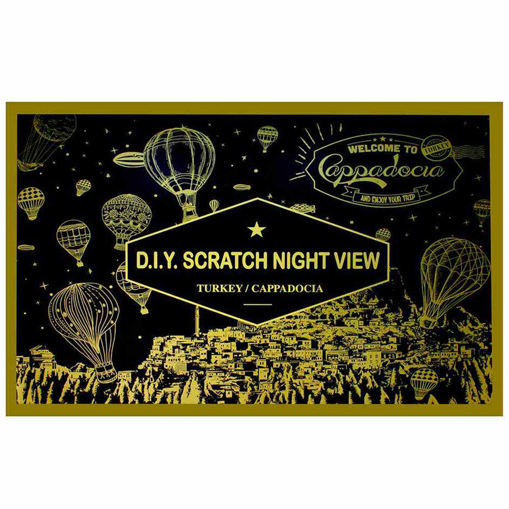 Latest 7-T0516 Creative DIY Night Scenery Scraping Painting