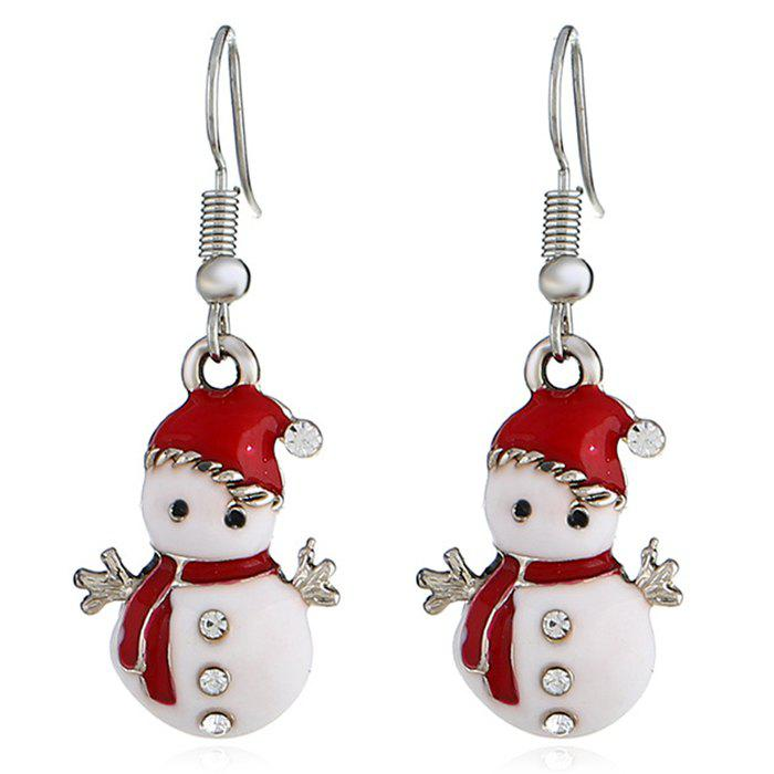 Outfit Christmas Snowman Earrings Personalized Fashion Cute Doll Gift