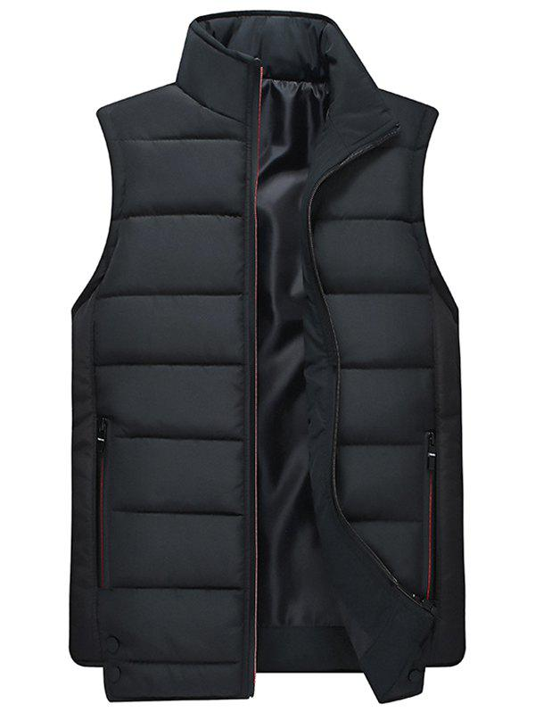 Discount Men's Casual Multicolor Trend Stand Collar Sleeveless Vest