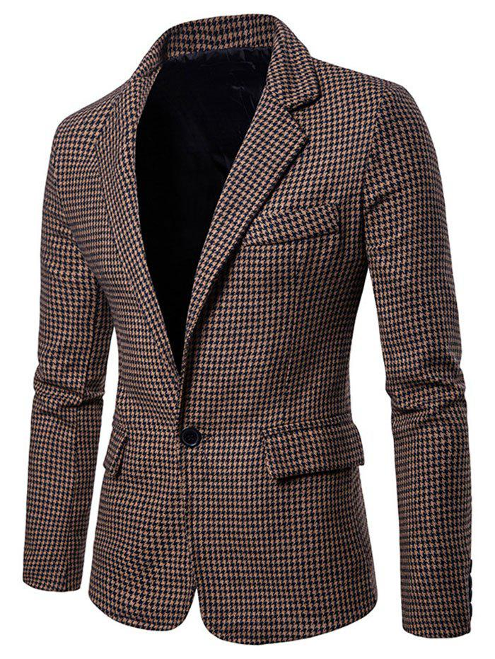 Fancy Men Stylish Leisure Turn-down Collar Business Suit
