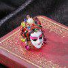 487 Personality Diamond Chinese Style Peking Opera Mask Ring -